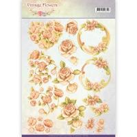 3D-Bogen - Vintage Flowers - Jeanines Art