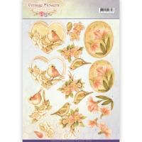 3D-Bogen - Vintage Flowers - Jeanines Art (049)