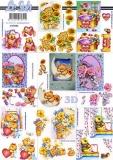 3D-Bogen Blumen-Bären klein von LeSuh (4169686)