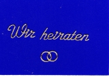 Sticker - Wir Heiraten - gold - 402