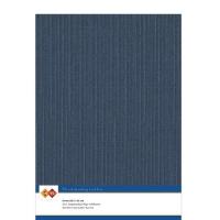 Karten-Karton mit Leinenstruktur A4 - dark blue