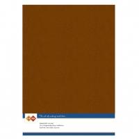 Karten-Karton mit Leinenstruktur A4 - brown