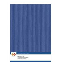 Karten-Karton mit Leinenstruktur A4 - ultramarine