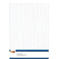 Karten-Karton mit Leinenstruktur A4 - white