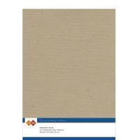 Karten-Karton mit Leinenstruktur A4 - kraft cappuccino