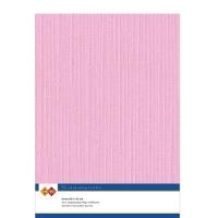 Karten-Karton mit Leinenstruktur A4 - pink