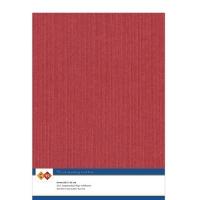 Karten-Karton mit Leinenstruktur A4 - red