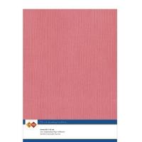 Karten-Karton mit Leinenstruktur A4 - flamingo - 1 Bogen
