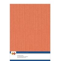 Karten-Karton mit Leinenstruktur A4 - orange - 1 Bogen