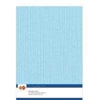 Karten-Karton mit Leinenstruktur A4 - light blue - 1 Bogen