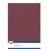 Karten-Karton mit Leinenstruktur A4 - burgundy - 1 Bogen