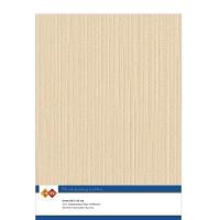 Karten-Karton mit Leinenstruktur A4 - sand - 1 Bogen