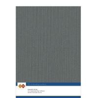 Karten-Karton mit Leinenstruktur A4 - dark grey - 1 Bogen