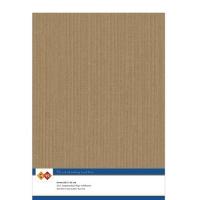 Karten-Karton mit Leinenstruktur A4 - coffee brown - 1 Bogen