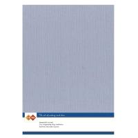 Karten-Karton mit Leinenstruktur A4 - old blue - 1 Bogen