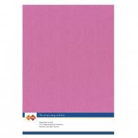 Karten-Karton mit Leinenstruktur A4 - bright pink - 1 Bogen