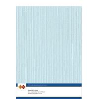 Karten-Karton mit Leinenstruktur A4 - baby blue - 1 Bogen