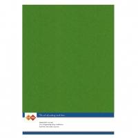 Karten-Karton mit Leinenstruktur A4 - fern green - 1 Bogen