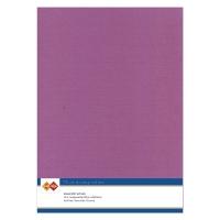 Karten-Karton mit Leinenstruktur A4 - eggplant - 1 Bogen