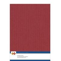 Karten-Karton mit Leinenstruktur A4 - christmas red - 1 Bogen