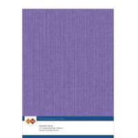 Karten-Karton mit Leinenstruktur A4 - violet - 1 Bogen