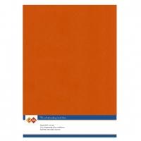 Karten-Karton mit Leinenstruktur A4 - autumn orange - 1 Bogen