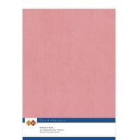 Karten-Karton mit Leinenstruktur A4 - old pink - 1 Bogen