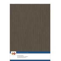 Karten-Karton mit Leinenstruktur A4 - chocolate brown - 1 Bogen