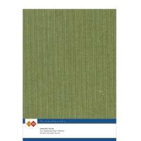 Karten-Karton mit Leinenstruktur A4 - moss green - 1 Bogen