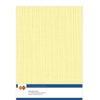 Karten-Karton mit Leinenstruktur A4 - yellow - 1 Bogen