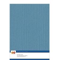Karten-Karton mit Leinenstruktur A4 - turquoise - 1 Bogen