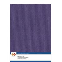 Karten-Karton mit Leinenstruktur A4 - purple - 1 Bogen