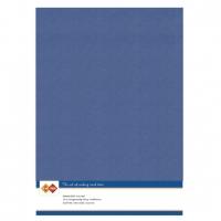 Karten-Karton mit Leinenstruktur A4 - jeans - 1 Bogen