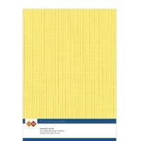 Karten-Karton mit Leinenstruktur A4 - bright yellow - 1 Bogen