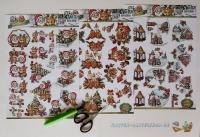 Bastelset Nr.7 Weihnachten 2 für 9 Karten