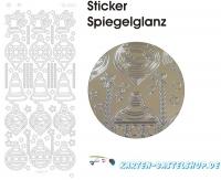 Platin-Sticker (Spiegelglanz) - Baumschmuck - gold - 3095