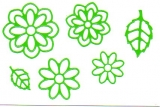Sticker - Blumen 19 - hellgrün - 1113