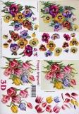 3D-Bogen Veilchen und Tulpen von LeSuh (4169124)