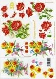3D-Bogen Narzisse und Rosen von LeSuh (4169247)