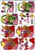 3D-Bogen Gießkanne und Korb von LeSuh (4169149)