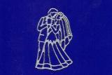 Sticker - Hochzeit 1 - silber - 109