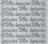Sticker - Wir Heiraten - silber - 402