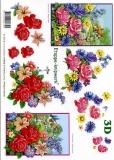 3D-Bogen Rosen und Landhaus von LeSuh (416952)