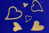 Sticker - Herzen - gold - 120