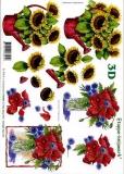 3D-Bogen Sonnenblumen in Giesskanne von LeSuh (416955)