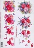 3D-Bogen Rosenstrauß von LeSuh (416904)