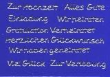 Sticker - Schriften zu verschiedenen Anlässen - silber - 442
