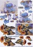 3D-Bogen Sonnenblume und Hortensie von LeSuh (4169496)