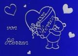 Sticker - Von Herzen - silber - 406