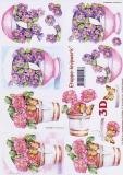 3D-Bogen Blumen im Topf von LeSuh (4169446)